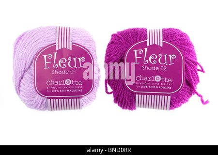 Two balls of Charlotte wool - Stock Photo