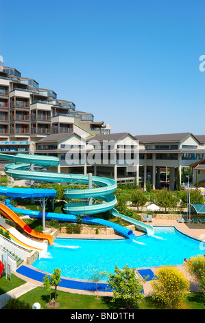 waterpark at the luxury hotel antalya turkey stock photo. Black Bedroom Furniture Sets. Home Design Ideas