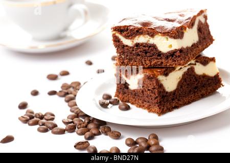 photo shot of coffee cake - Stock Photo