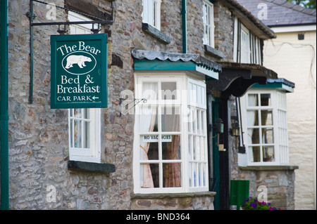 THE BEAR Bed and Breakfast guest house in Hay-on-Wye Powys Wales UK - Stock Photo