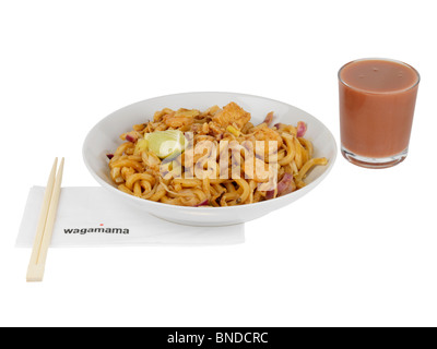 Amai Udon with Fruit Smoothie - Stock Photo