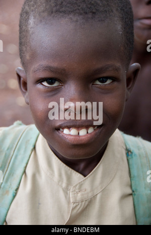 Africa, Togo, Kpalime Valley. Rural Togolese village, local boy. - Stock Photo