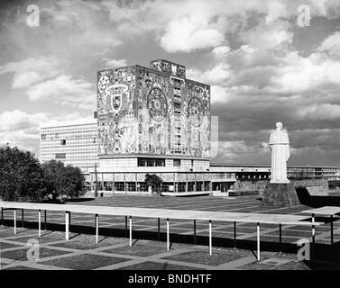 Juan O'Gorman Mosaic  National University  Library  Mexico City  Mexico - Stock Photo