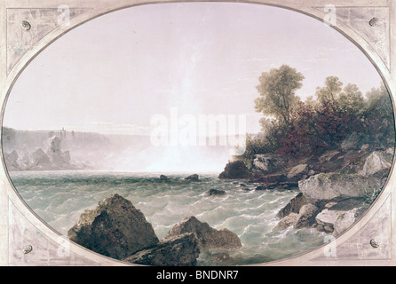 Niagara Falls by John Frederick Kensett, (1816-1872) - Stock Photo