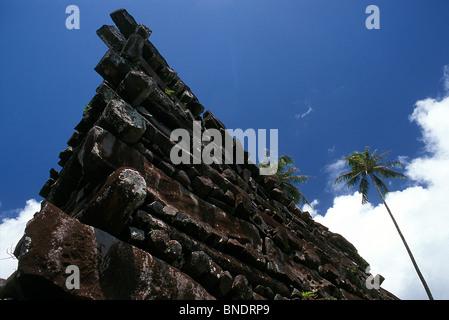 Lost city of Nan Madol, Pohnpei, Micronesia - Stock Photo