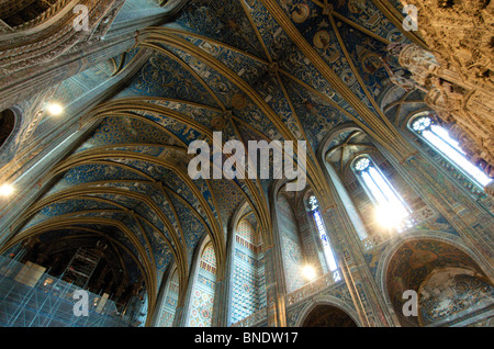 Sainte Cecile cathedral ceiling. Albi. Tarn. France - Stock Photo