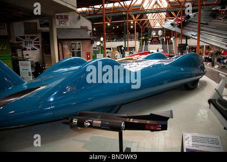 1997 Thrust SSC world land speed vehicle in the Beaulieu Motor Museum. - Stock Photo