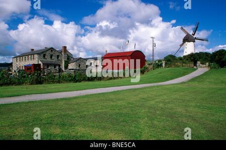 Walkway in a field, Skerries Mills Museum, Skerries, County Dublin, Ireland - Stock Photo