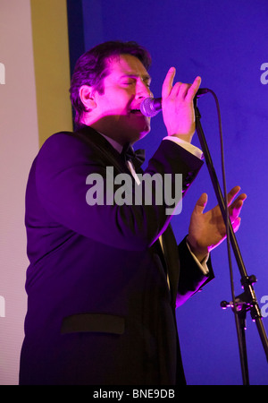 Live music gig - former Spandau Ballet frontman Tony Hadley - performance in September 2008 - Stock Photo