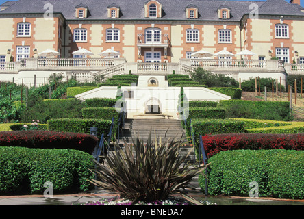 French chateau style architecture of domaine chandon winery in carneros located in napa valley northern california