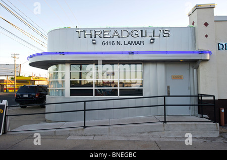 The famous Thread gill's diner Austin, Texas, USA - Stock Photo