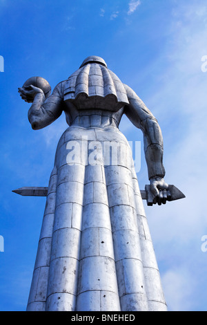 The aluminium statue of Kartlis Deda, Mother Georgia, Tbilisi, Georgia - Stock Photo
