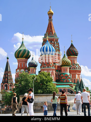 Saint Basil's Cathedral - Russian Orthodox cathedral erected on the Red Square in Moscow in 1555–1561 Russia churche - Stock Photo