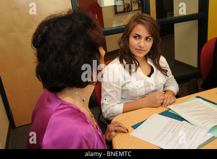 Students at a charter high school learn about entering the workplace. - Stock Photo