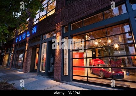 Tesla Electric Car Dealer Retail Store In A Shopping