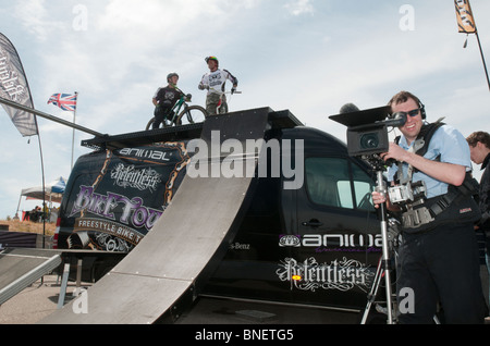 UNITED KINGDOM, ENGLAND - The Animal Freestyle Bike Tour at Eastbourne Extreme. - Stock Photo