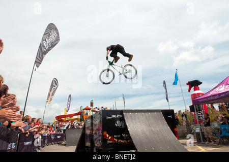UNITED KINGDOM, ENGLAND - The Animal BMX Freestyle BMX Bike Tour at Eastbourne Extreme.