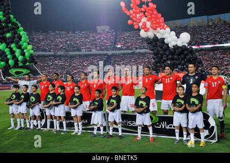 The infamous Egypt vs Algeria WM qualification match in Cairo's international stadium that ended 2:0 - Stock Photo