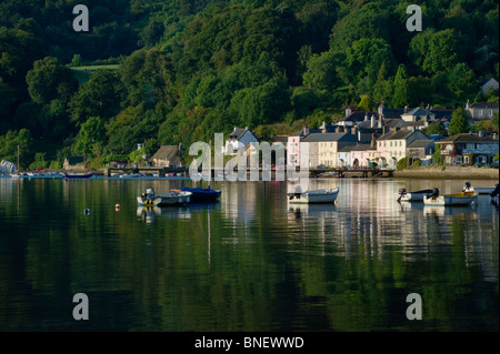 The picturesque village of Dittisham on the River Dart in Devon England UK - Stock Photo