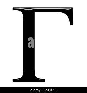 3d Greek letter Gamma - Stock Photo