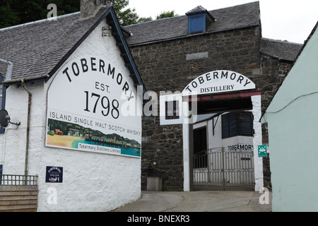 The distillery at Tobermory on the island of Mull. - Stock Photo