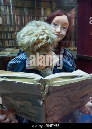 Book shop in Passage Verdeau Paris France - Stock Photo