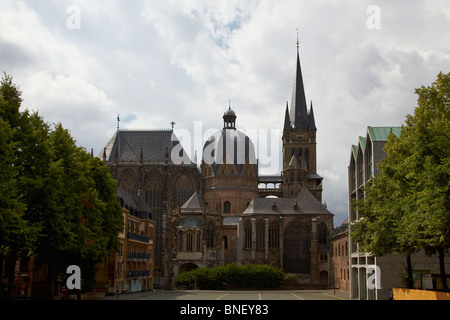 The cathedral in Aachen, Germany - Stock Photo
