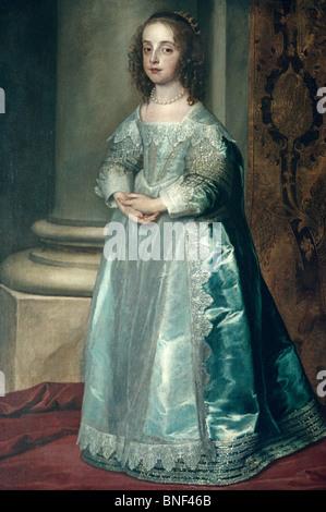 Mary Stuart by Anthony van Dyck, (1599-1641) - Stock Photo