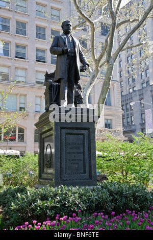 Chester Alan Arthur Statue, 21st President of the U.S., Madison Square Park, NYC - Stock Photo