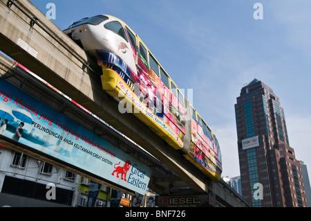 KL Monorail Kuala Lumpur Malaysia - Stock Photo