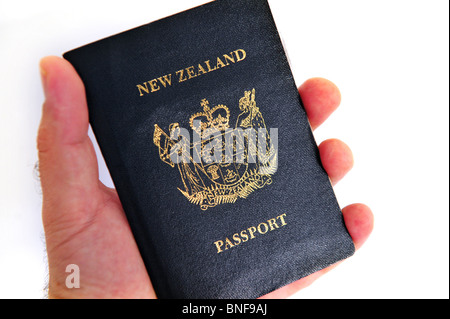 New Zealand passport New Zealand Citizenship travel documents Passports and Immigration Permits - Stock Photo