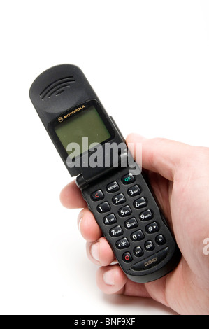 old mobile phone phones cell cellphones cellphone retro fashion fashioned style design style - Stock Photo