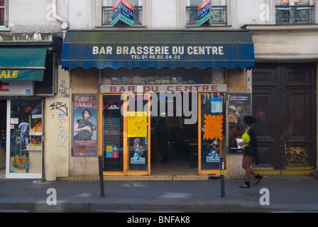 France paris cafe bar le nemours stock photo royalty free image 916979 alamy - Bar le central ...