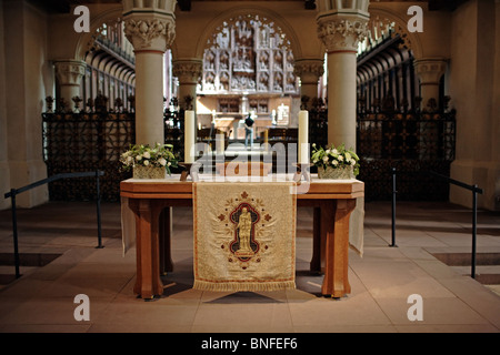 A small altar in the Cathedral of St. Peter, Schleswig, Germany - Stock Photo