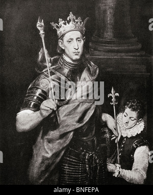 Louis IX, 1214 to 1270, commonly Saint Louis, King of France.