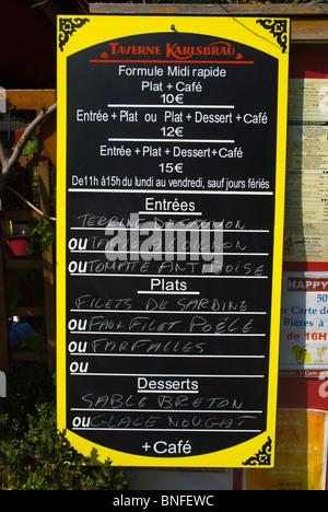 Daily lunch specials Place de la Republique Paris France Europe - Stock Photo