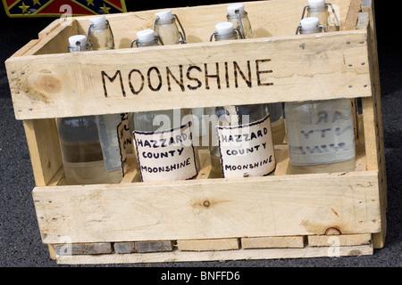 Moonshine on Show at Santa Pod raceway - Stock Photo