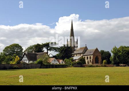 All Saints Church, Ladbroke, Warwickshire, England, UK - Stock Photo