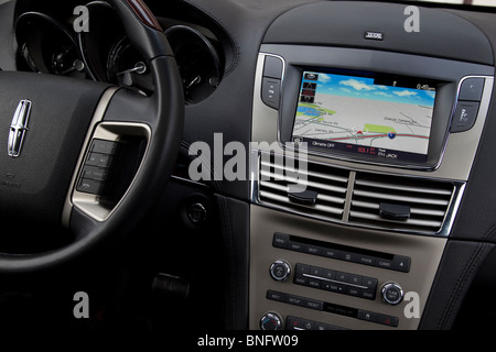 Lincoln MKT GPS console. Satellite Navigation system - Stock Photo