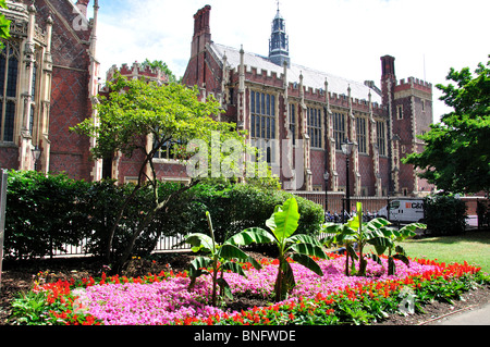 The Library and Benchers' Rooms from gardens, Lincoln's Inn, London Borough of Camden, Greater London, England, - Stock Photo