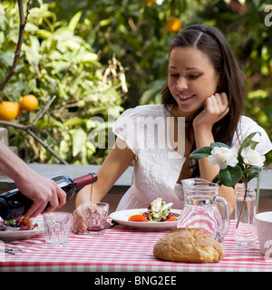 young woman,lunch - Stock Photo