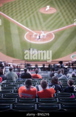 Baseball Stadium - Oriole Park at Camden Yards, Baltimore Maryland - Stock Photo