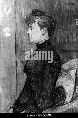 Young Woman by Henri de Toulouse-Lautrec, 1864-1901 - Stock Photo