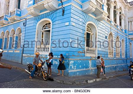 calle Heredia. Santiago de Cuba,Cuba - Stock Photo
