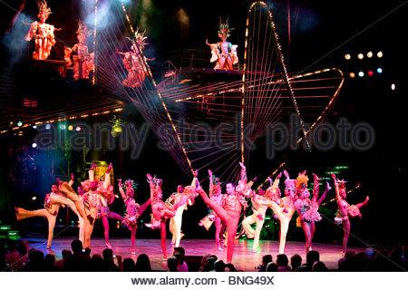 Cabaret show at the Paradiso. Havana,Province of Ciudad de La Habana,Cuba - Stock Photo