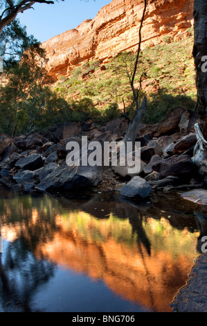 Waterhole, Kings Canyon, Northern Territory, Central Australia - Stock Photo