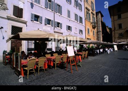 italy, rome, piazza della rotonda, cafe - Stock Photo