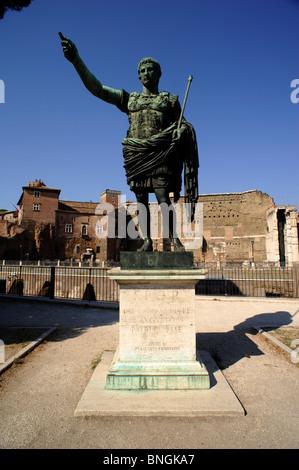 italy, rome, statue of augustus, roman emperor - Stock Photo