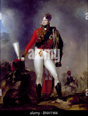 King George IV by Eduard Strohling, (1768-ca.1826) - Stock Photo
