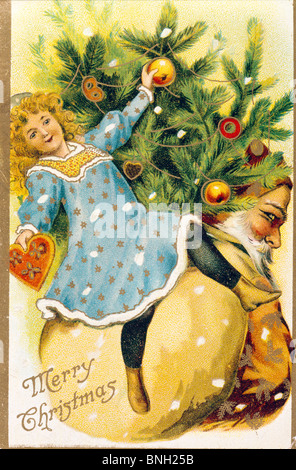 Merry Christmas, Nostalgia Cards - Stock Photo